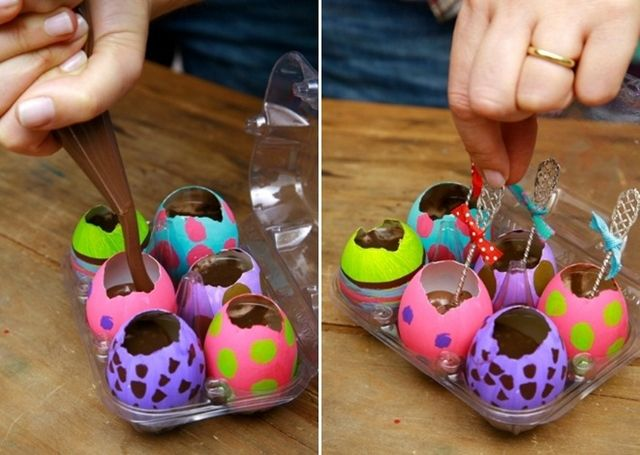 45 best easter crafts decorating ideas images on pinterest homemade easter gift ideas painted eggs kids adults melted chocolate negle Gallery