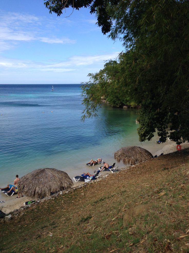 Sunbathing in the water at the private beach of #grandpalladiumjamaica