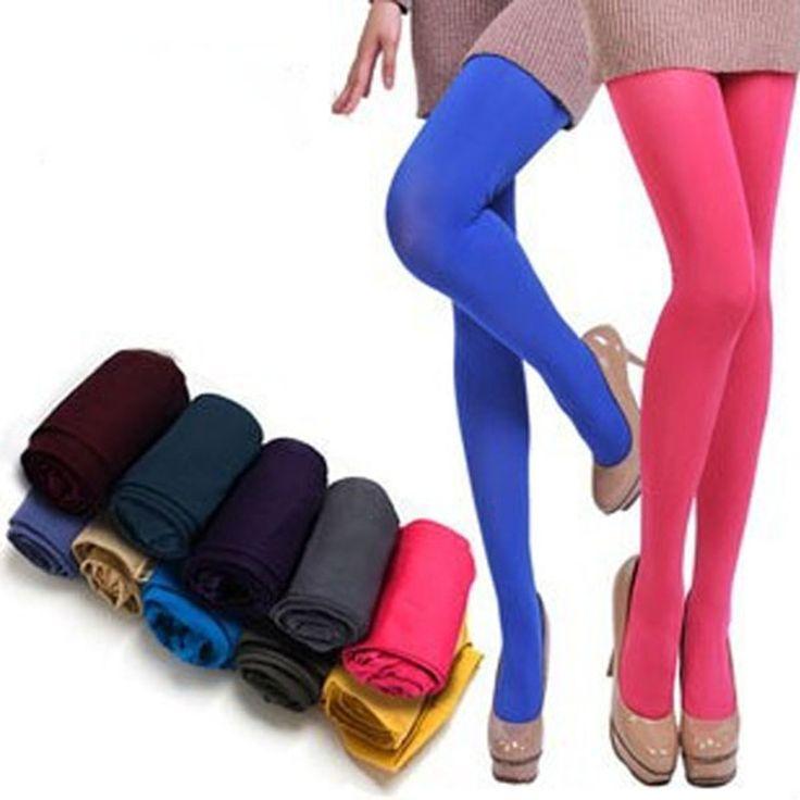 100D Nueva Muchachas de La Manera Mujeres Solid Stretch Medias de Primavera de Color Caramelo Collant Femme Sin Costura Niñas Pantimedias Medias Atractivas S202