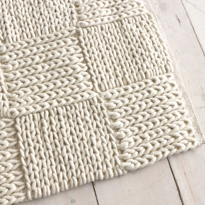 Best 25+ Knit Rug ideas on Pinterest Crochet carpet, Knitted rug and Giant ...