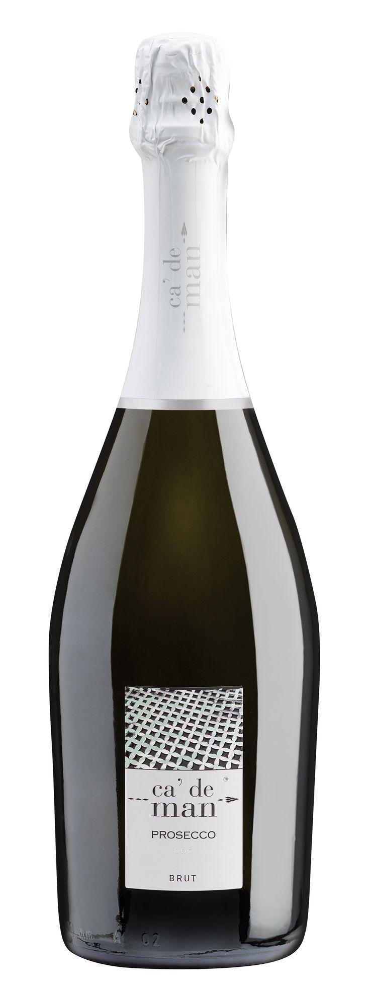 Prosecco Brut - Ca' de Man #prosecco #winelabel #winedesign #italianwine #Francescon #Collodi #F&C
