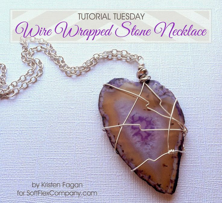 Wire Wrapped Stone Pendant.   #Wire #Jewelry #Tutorials