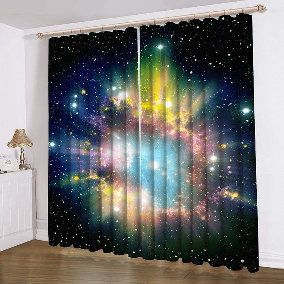 32 Best 3d Curtain Images On Pinterest Designs Shower Rhpinterestcouk: Galaxy Drapes For Bedroom At Home Improvement Advice