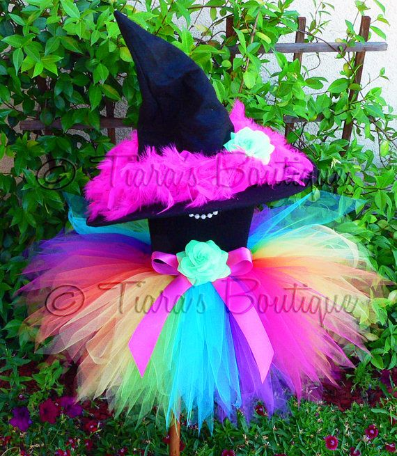 Witch Tutu Costume Auriana the Rainbow Witch