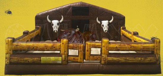 The Deluxe Mechanical Rodeo Bull is a real Wild West Adventure! http://www.therodeobullcompany.com/Deluxe-Mechanical-Bull-for-Sale.html