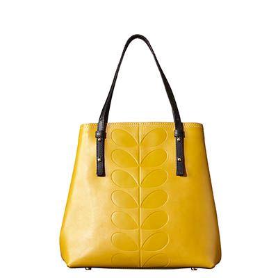 Orla Kiely   UK   bags   Mainline bags   Embossed Stem Willow Bag (15ABEMS067)   mustard