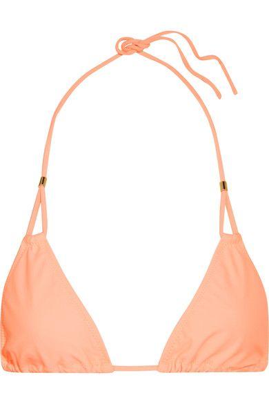 Heidi Klein - Bermuda Triangle Bikini Top - Peach - x large