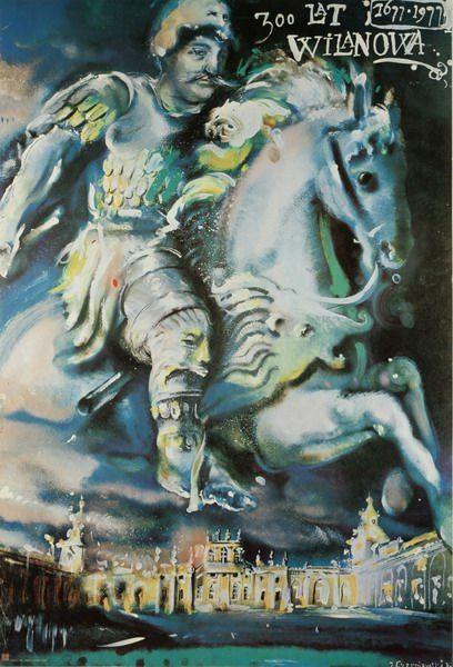 Jerzy Czerniawski '300 years of Wilanow' - Polish Poster, 1977