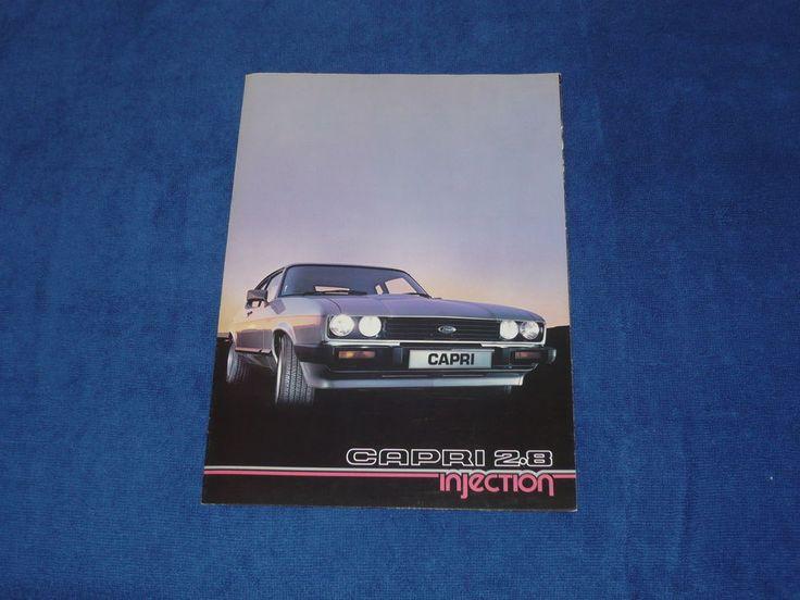 Ford Capri 2.8i 2.8 Injection Mk3 Fold out Brochure Prospekt  Rare