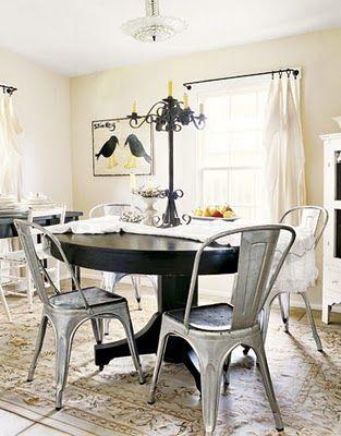 marais chairs black table