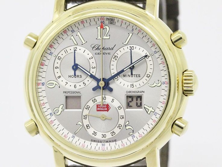 Polished #CHOPARD Mille Miglia Chronograph 18K Solid Gold Watch 16/1240 (BF071996). All of #eLADY's items are inspected carefully by expert authenticators who have years of experience. For more pre-owned luxury brand items, visit http://global.elady.com