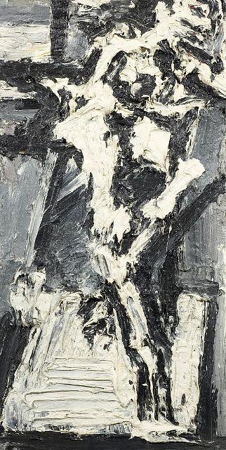 Frank Auerbach, J Y M in the Studio VII (1965) on ArtStack #frank-auerbach #art