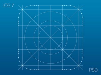 Grids and Icons for Creating iOS 7 Templates