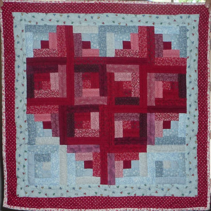 Log Cabin Heart by Linda Log Cabin Quilts Pinterest Quilt, Heart and Cabin