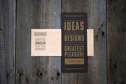 Woodward Design - Thank You Card Design www.kristingibson.ca
