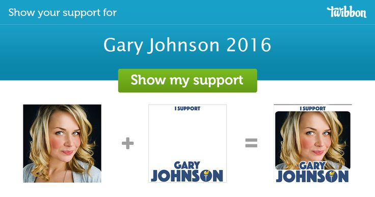 The official twibbon of Governor Gary Johnson, 2016 Presidential Candidate and two-term Governor of New Mexico. garyjohnson2016.com Twitter: @GovGaryJohnson Facebook:https://www.facebook.com/govgaryjohnson/