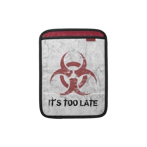 Biohazard customizable sleeves for iPads
