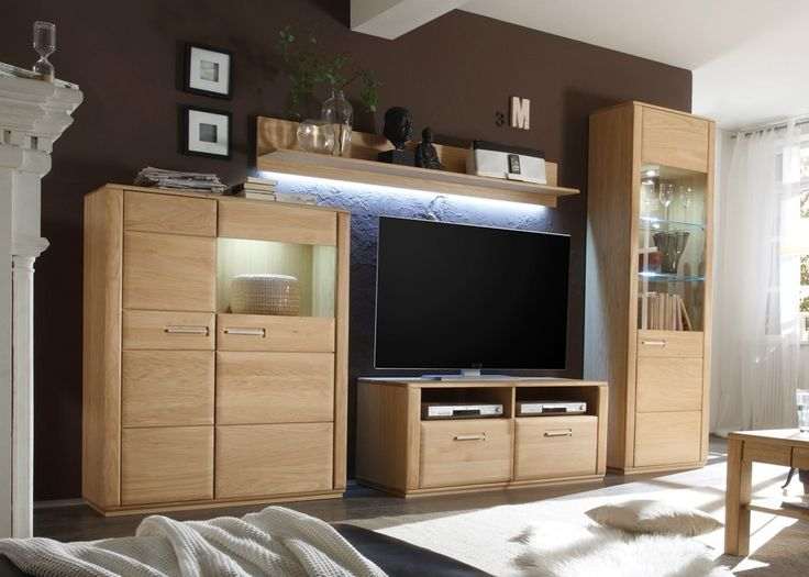 Wohnwand Eiche Bianco Asti 11 Anbauwand Schrankwand Holz 21371 Aus Dem Wohn Und Speisezimmerprogramm Wenn Man Die Mbel Der