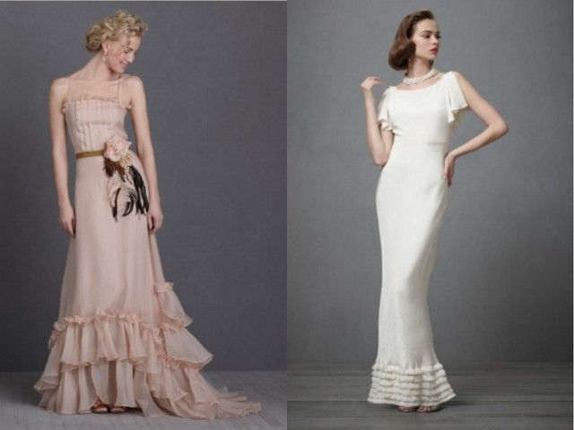 El estilo vintage está muy de moda para las bodas en 2012. Si te gustan los toques retro y románticos de épocas pasadas, estos vestidos de novia te van a encantar.