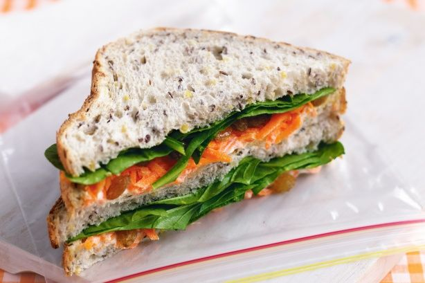 Cream cheese, carrot and sultana sandwich main image
