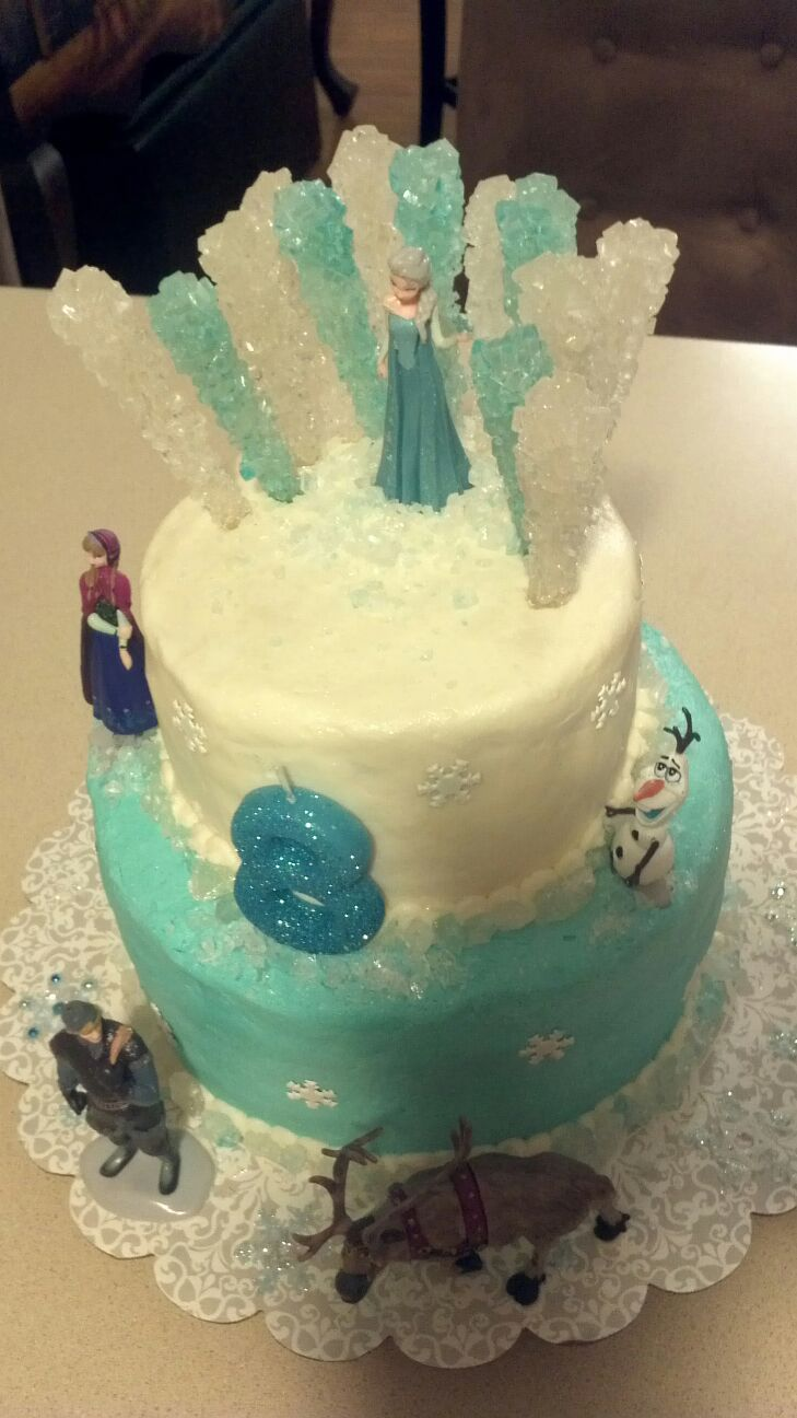 Disney Frozen cake...and that's buttercream frosting!