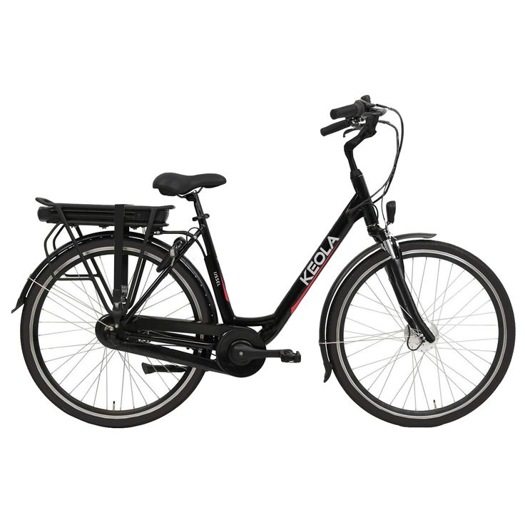 Keola Elektrische fiets IJssel dames mat zwart 51cm 374 Watt Zwart  Description: De Keola IJssel is een luxe elektrische 28 inch damesfiets met een lichtgewicht aluminium frame en een framehoogte van 51 centimeter. Uitgevoerd met een krachtige stille voorwielmotor. De Samsung accu is krachtig en betrouwbaar want met zijn 36 volt en 104 ampére fiets je in de eco-stand 60 tot 80 kilometer. Halfords Bike Lease geeft je de mogelijkheid een elektrische fiets te leasen in plaats van te kopen…