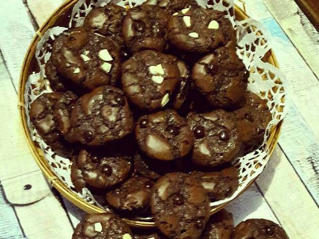 Resep Brownies Cookies Mini Oleh Ratnafe Resep Brownie Cookies Makanan Makanan Dan Minuman