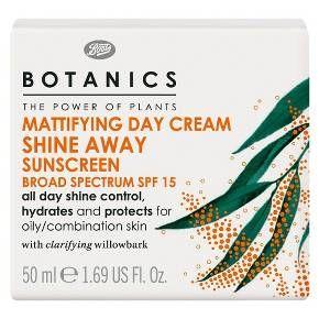 Boots Botanics Shine Away Mattifying Day Cream SPF15 - 1.69 oz : Target
