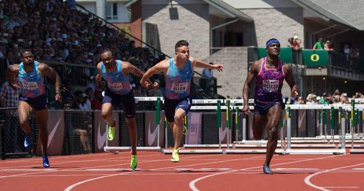 Reigning US champ Devon Allen takes third in 110 hurdles at Nike Prefontaine Classic...