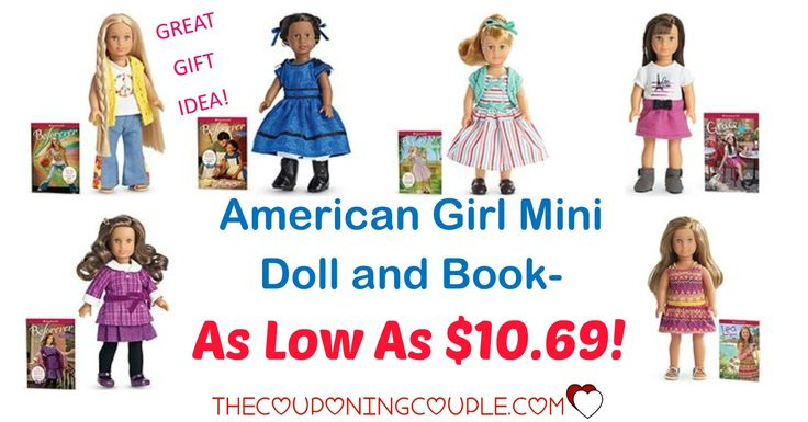 AWESOME GIFT IDEA! Get an American Girl Mini Doll and Book for as low as $10.69 from Amazon! Nice selection too! Any little girl would be happy with one of these!  Click the link below to get all of the details ► http://www.thecouponingcouple.com/american-girl-mini-doll/ #Coupons #Couponing #CouponCommunity  Visit us at http://www.thecouponingcouple.com for more great posts!