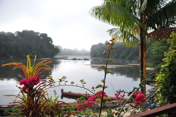 Suriname. No, we don't want to leave this place: Danpaati River Lodge along the Upper Suriname River.
