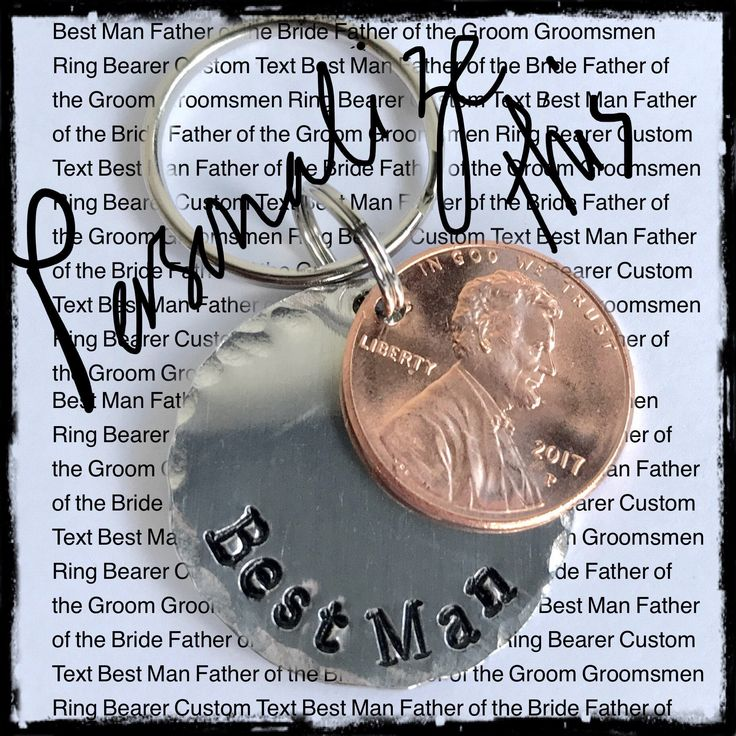 Best man gift, best man wedding Keychain, Penny keychain, Gifts for wedding party, groom gift for best man father of the bride, ring bearer by ItsAllAboutYouAmy on Etsy