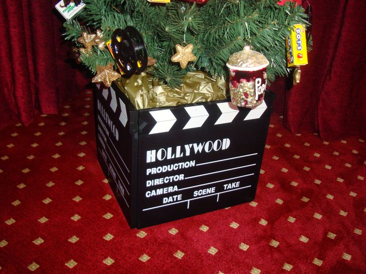 8 best movie room images on Pinterest   Themed christmas trees ...