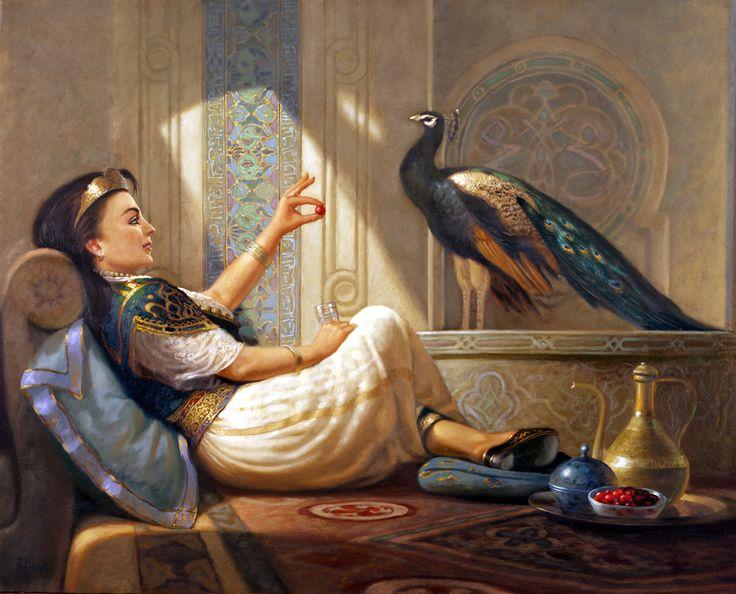 Art - Contes de Wolfram dove80000.over-blog.com983 × 794Buscar por imagen 01 ziani peinture painting orientalisme orientalist cerise paon