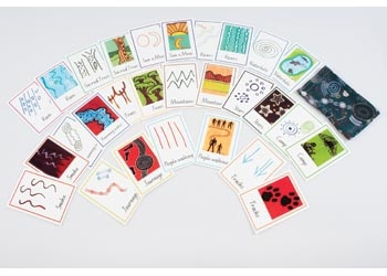 aboriginal symbol cards. art unit?
