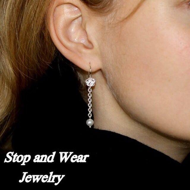 Cute silver earrings  www.stopandwearjewelry.com