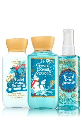 Frosted Coconut Snowball Travel Size Daily Trio - Signature Collection - Bath & Body Works