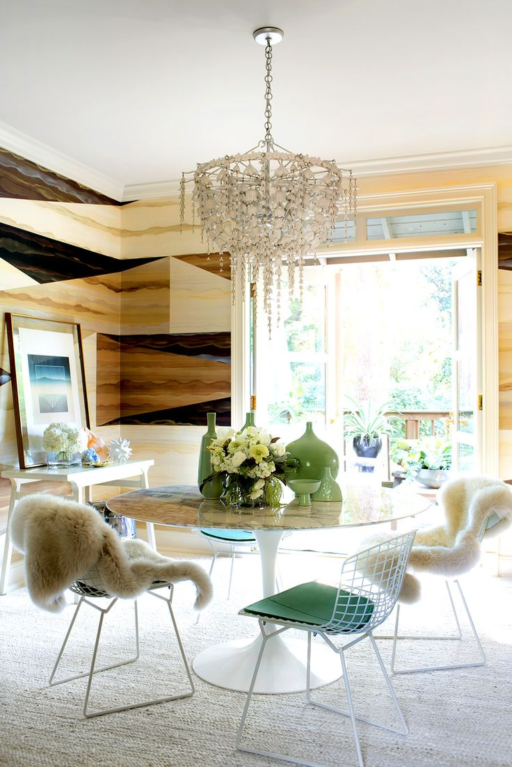 Dining room with new gleaming hardwood floors vision pointe homes - Home Tour A Designer S Pattern Packed Atlanta Home