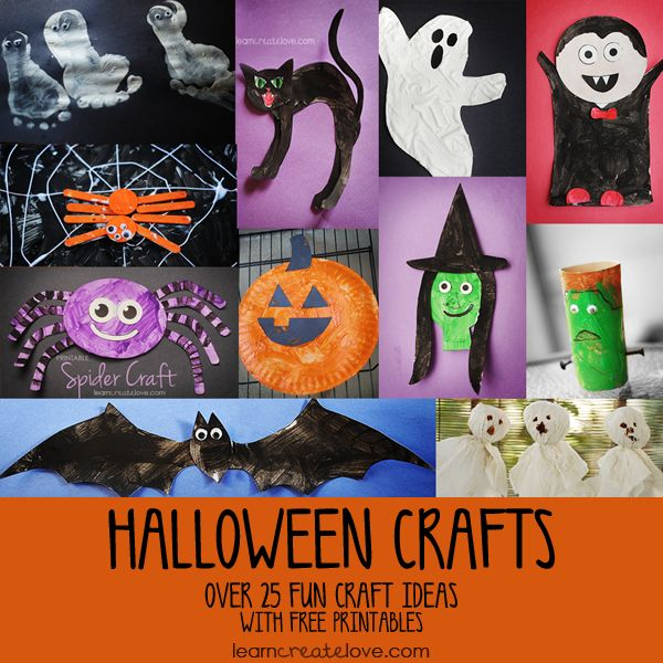 Over 25 Halloween Crafts with free
