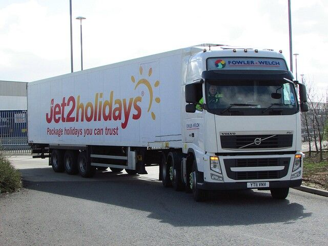 Fowler & Welsh Volvo FH with Jet2 Holidays Trailer.  Gary Chatterton's Photostream
