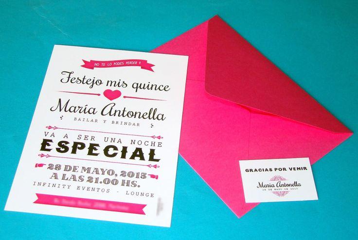 Invitaciones Para Cumpleaños 15 Años Ticket Vip - $ 8,00 en MercadoLibre