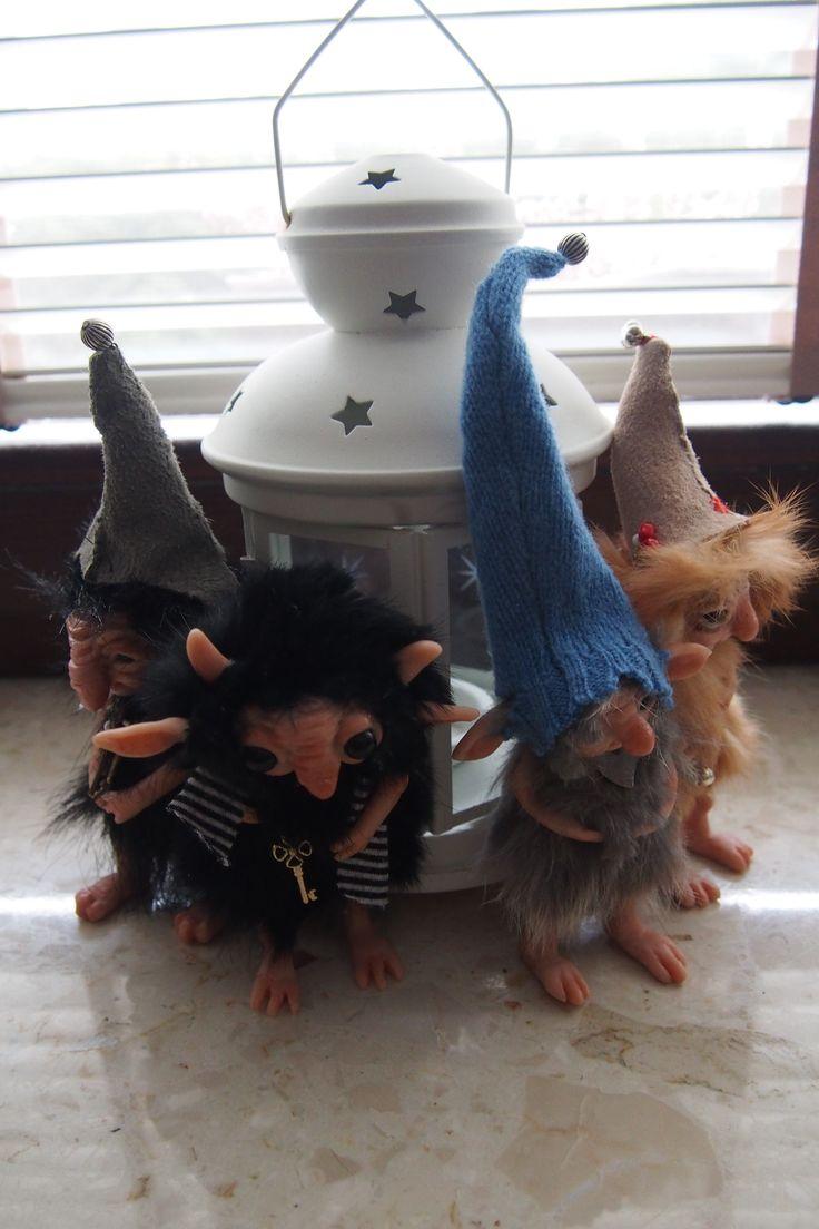 OOAK fantasy art doll trolls gnomes by Muyestillo