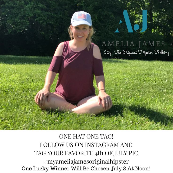 Follow us on Instagram and use hashtag #myameliajamesoriginalhipster to tag your favorite 4th of July picture! One lucky winner will be chosen Saturday at 12:00pm est time to win a hat like the one in the picture! #ameliajames #myameliajames #myameliajamesoriginalhipster #smallbusiness #hat #bossbabe #bosslady #directsales #4thofjuly #holiday #summer #summertime