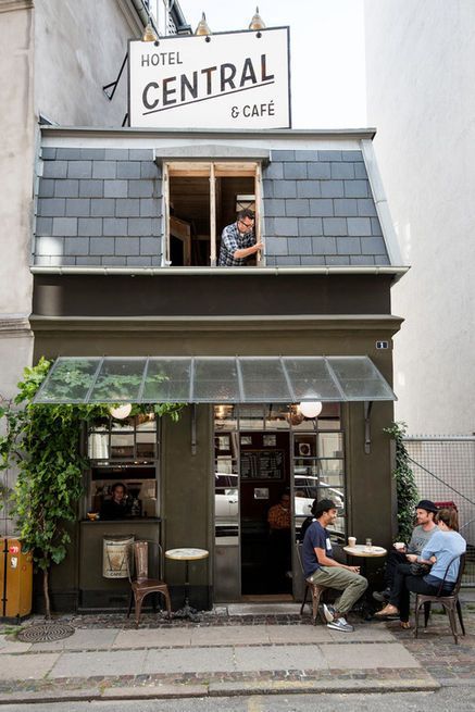 The eensy Central Hotel & Café in Copenhagen is a single-room inn located above a charming old world café.