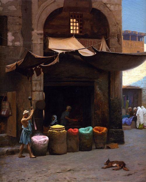 """The Colour Grinder"" by Jean-Leon Gerome (1891)"