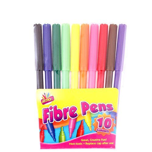 10 Pack Felt Tip Pens Fibre Fiber Tip Colouring 10 School Kids TALLON INTERNATIONAL http://www.amazon.co.uk/dp/B00E6E9DFY/ref=cm_sw_r_pi_dp_exH0vb1CMMDQH