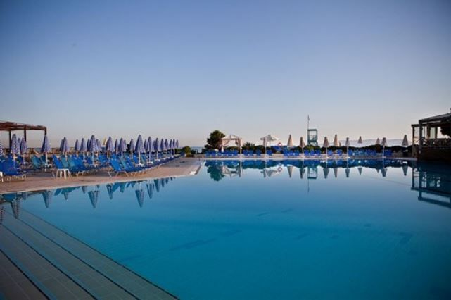Beautiful pool area at Aquis Arina Sand Hotel. #Greece #Crete