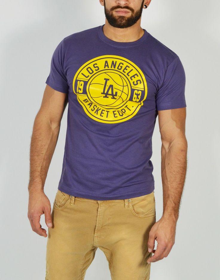 Camiseta de manga corta para hombre con estampado Los Angeles. Encuentra los modelos más divertidos y originales en camisetas de basket. http://tiendas13.com/camisetas-hombre/2097-camiseta-los-angeles.html