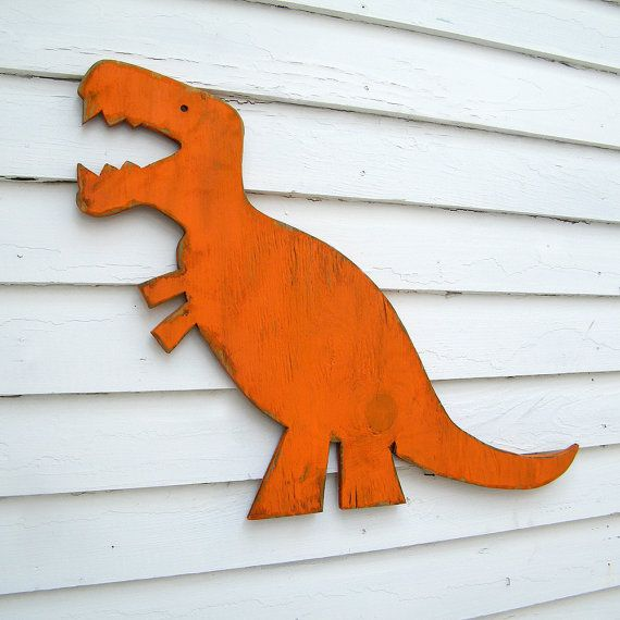 T Rex Wall Art Dinosaur Medium Baby Nursery by SlippinSouthern