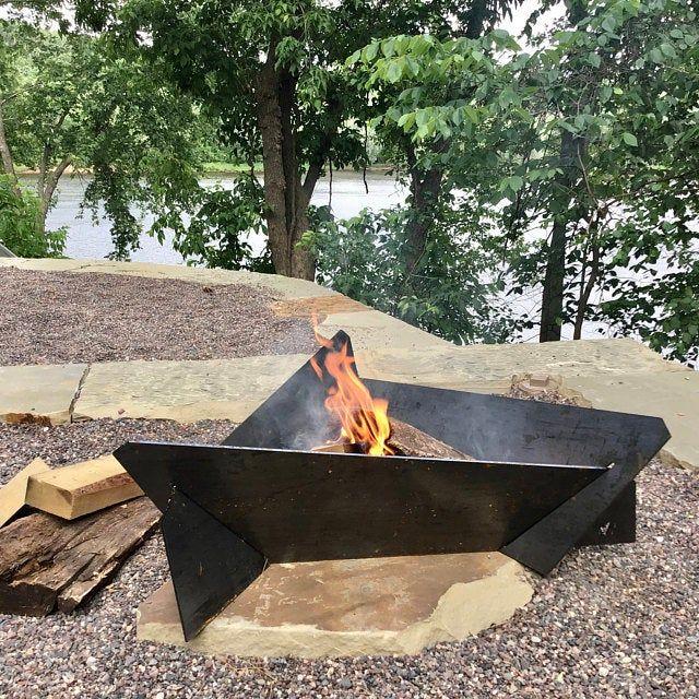 Large Corten Weathering Steel Fire Pit